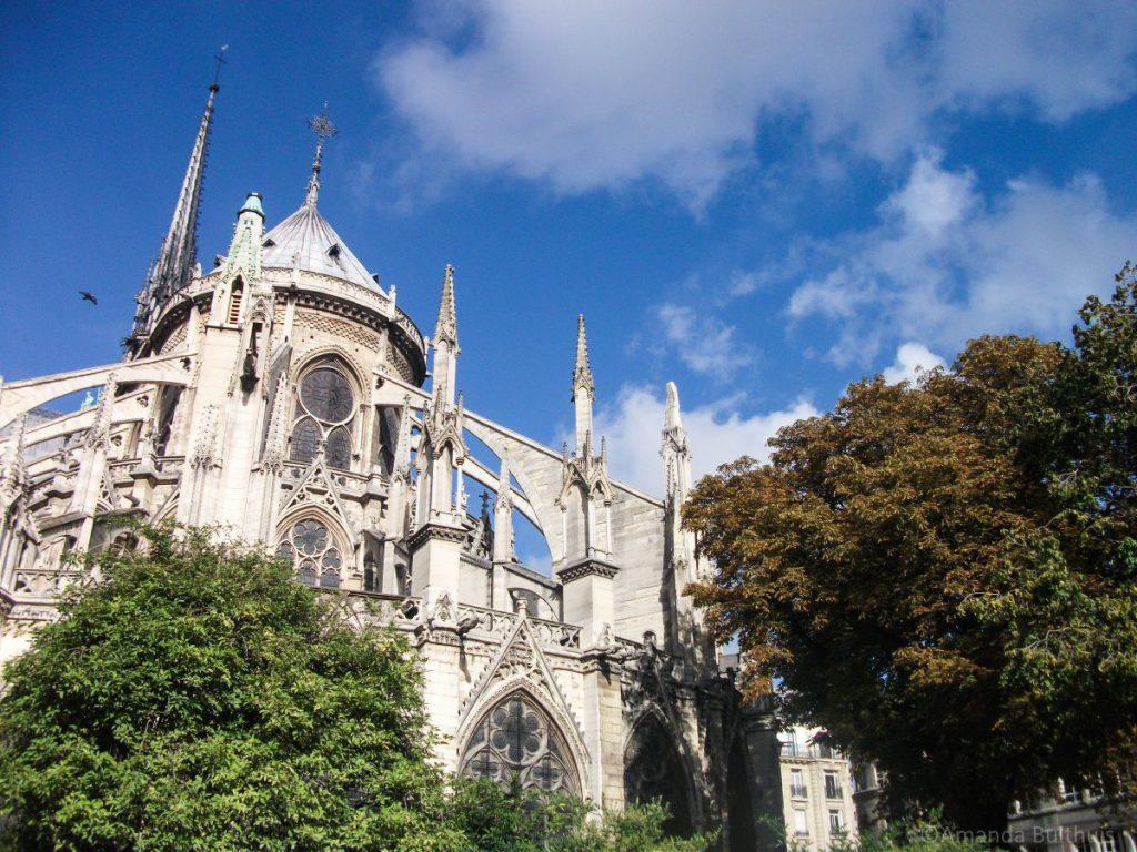Achterkant Notre Dame, Parijs