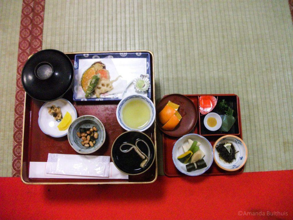 Traditionele avondmaaltijd Koyosan