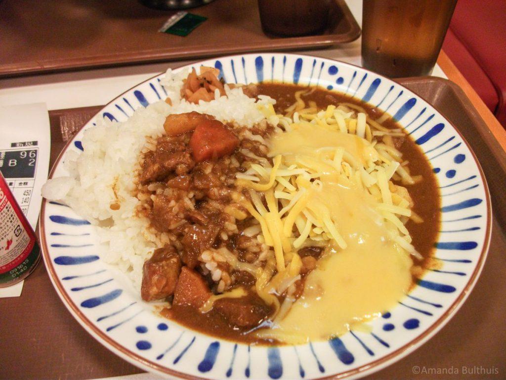 Japanse curry met kaas