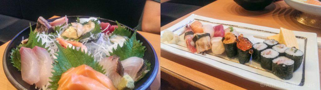 Sashimi en sushi Nagasaki