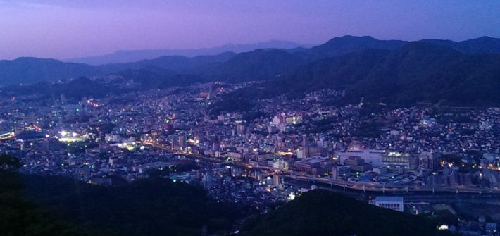 Uitzicht vanaf Nagasaki ropeway