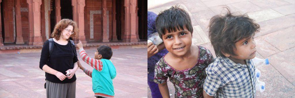 Kinderen in Fatehpur Sikri