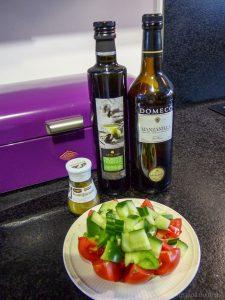 Ingrediënten voor gazpacho