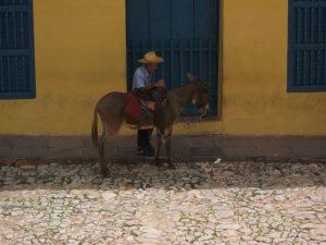 Man met paard in Trinidad, Cuba
