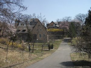 Europese huizen in Pyongyang Filmstudios