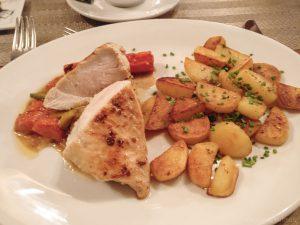 Kipfilet met gebakken aardappelen