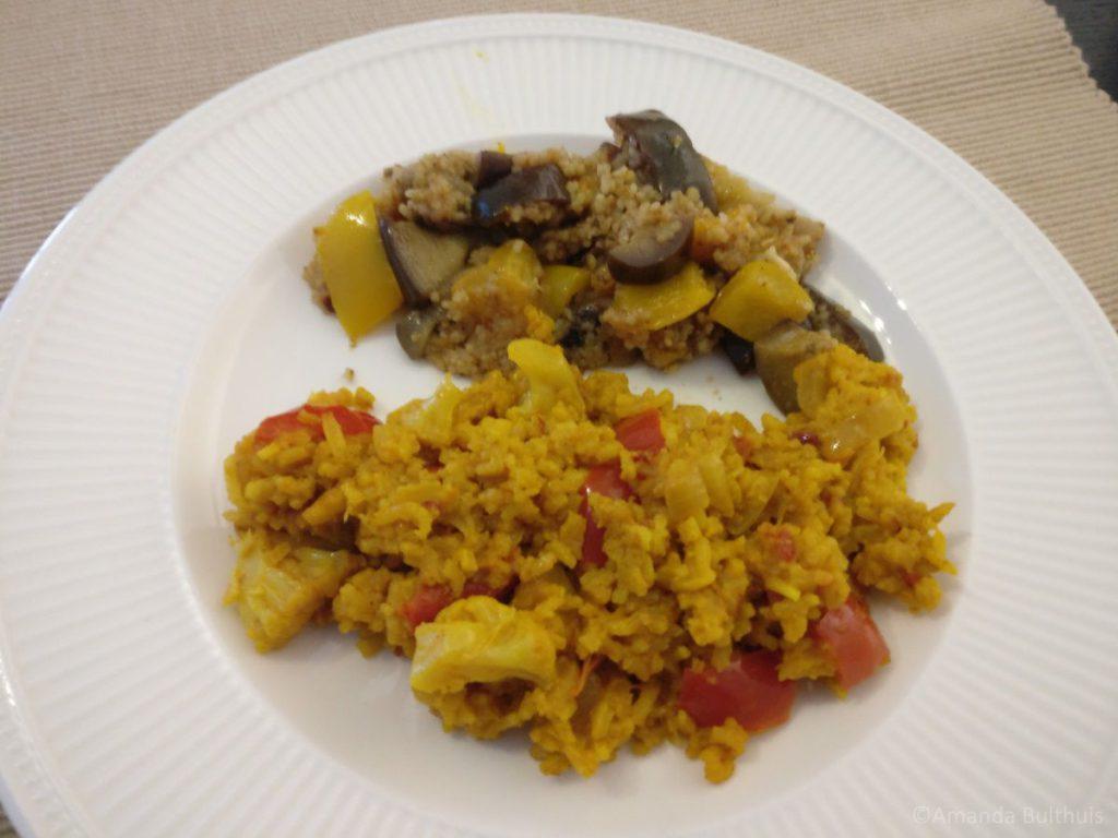Bloemkool madras en couscous