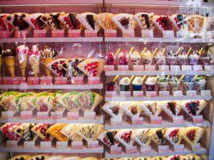Crêpes met vulling - Takeshita Dori
