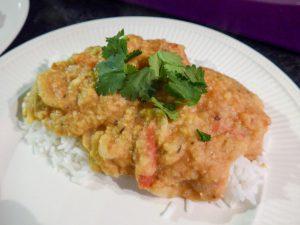 Indiase dahl met rijst en koriander