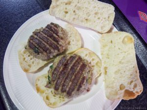 Italiaanse hamburgers op ciabatta