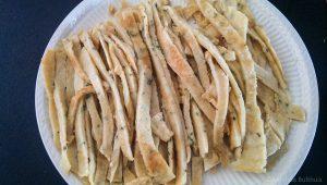 Reepjes eierpannenkoek voor frittatensuppe