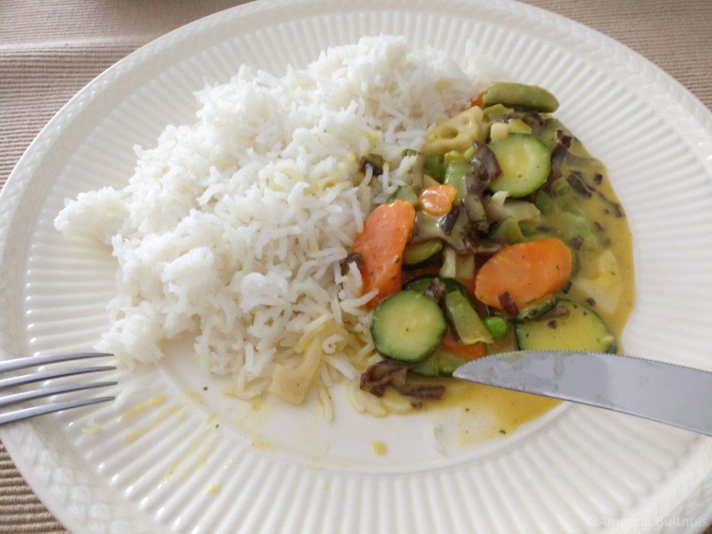 Thaise wokschotel met rijst
