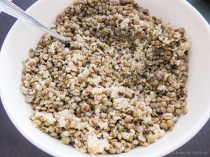 Quinoa en linzen mengsel