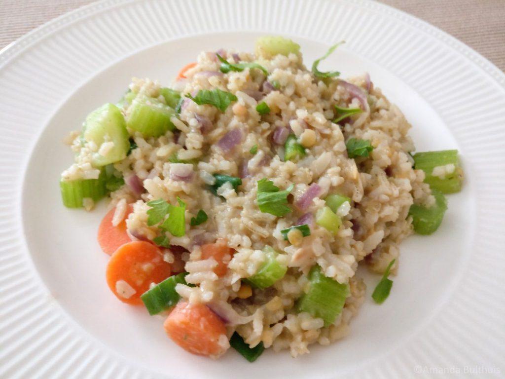 Rijstschotel met groente