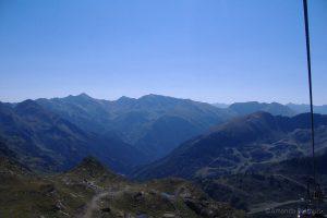 Uitzicht over bergen Andorra