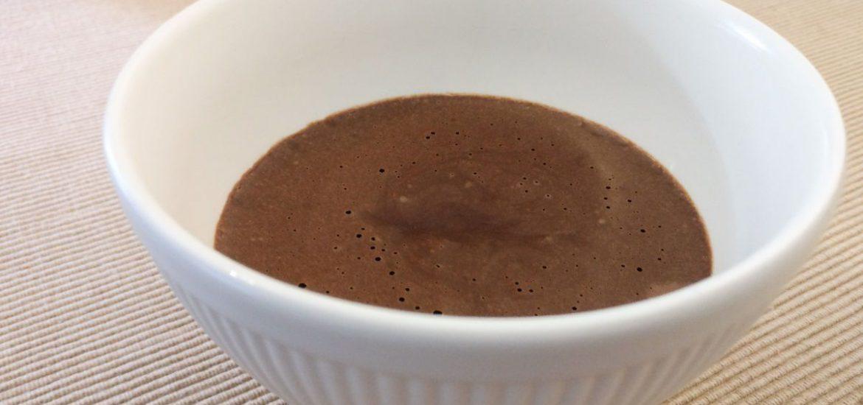 Chocolademousse zonder room en in