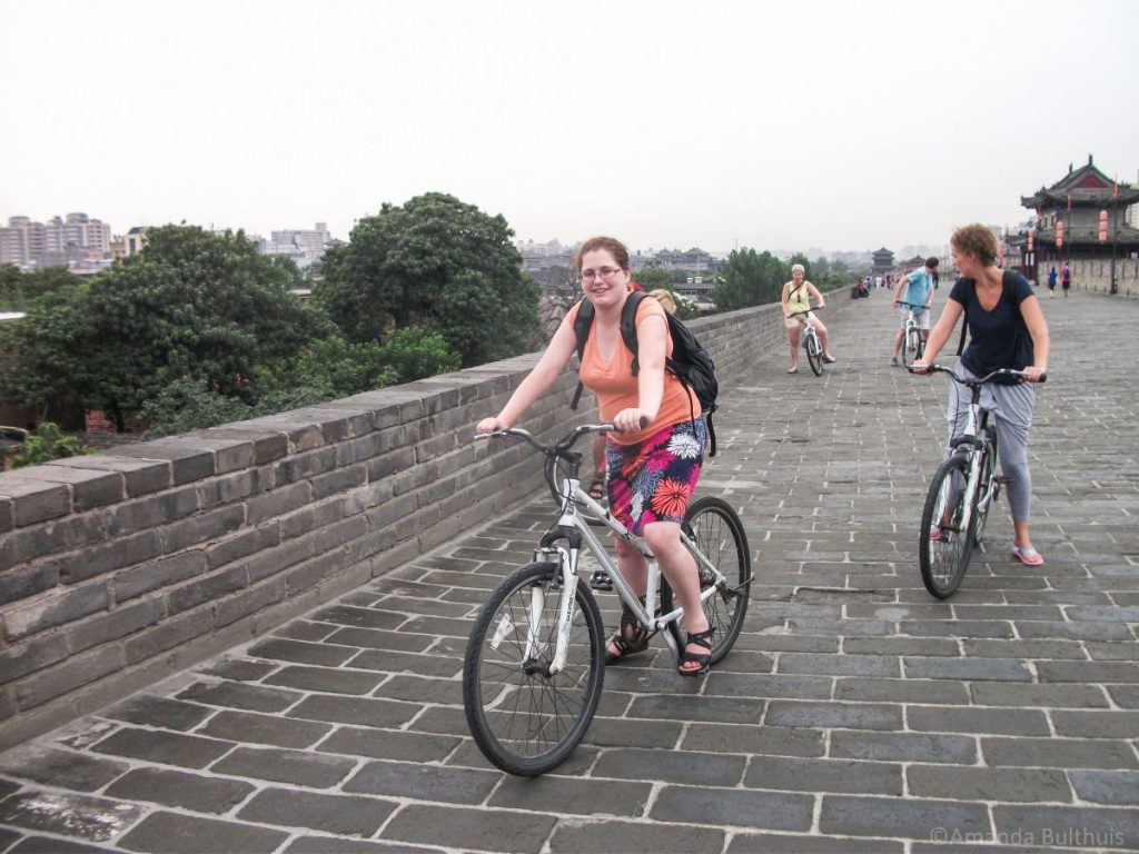 Fietstocht stadsmuur Xi'an