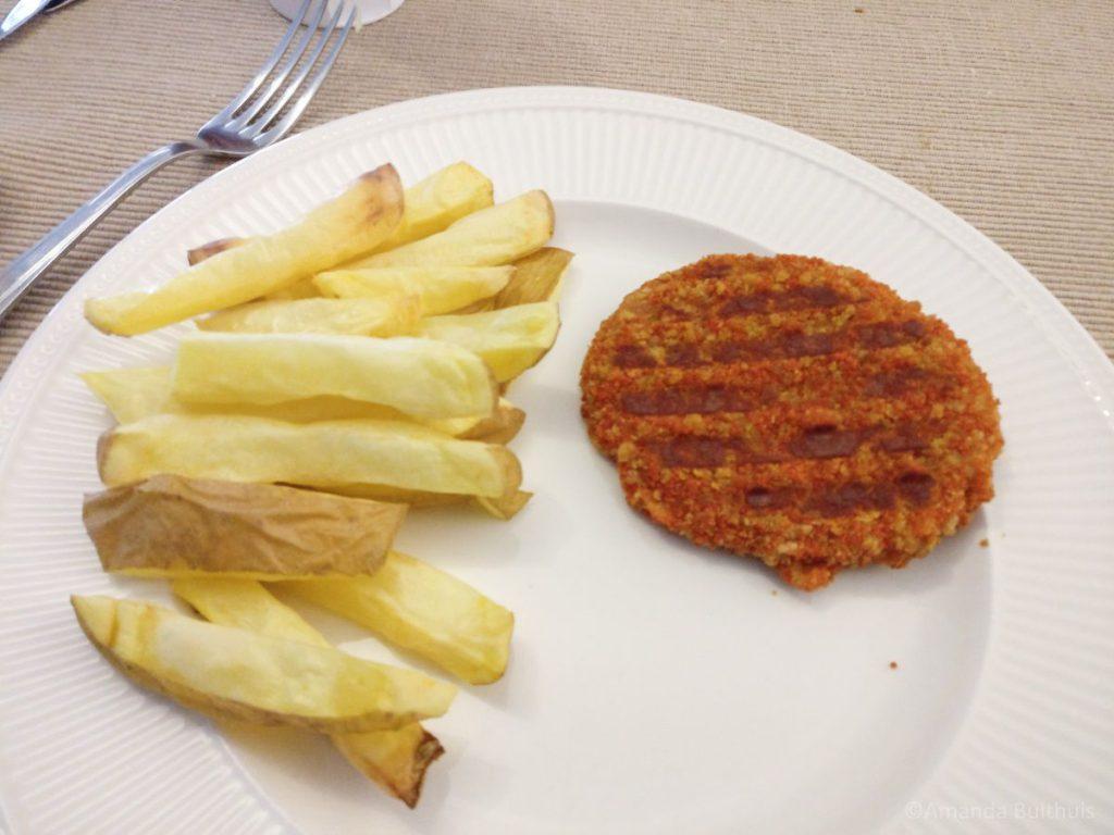 Javaanse schijf met friet