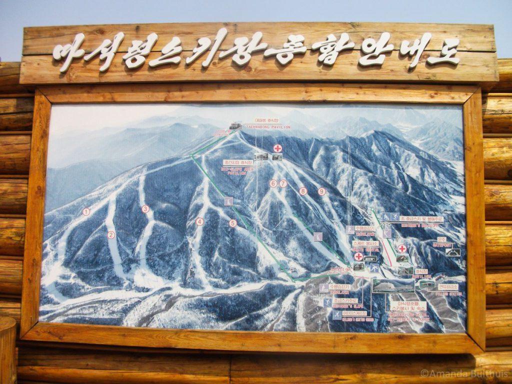 Kaart Skigebied Masikryong