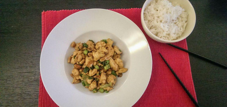 Kung pao chicken met rijst