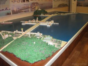 Maquette van de West Sea Barrage