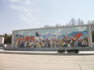 Monument bij Arc de Triomphe Pyongyang