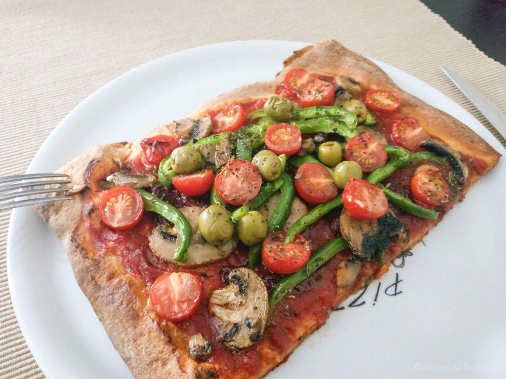 Pizza met groente