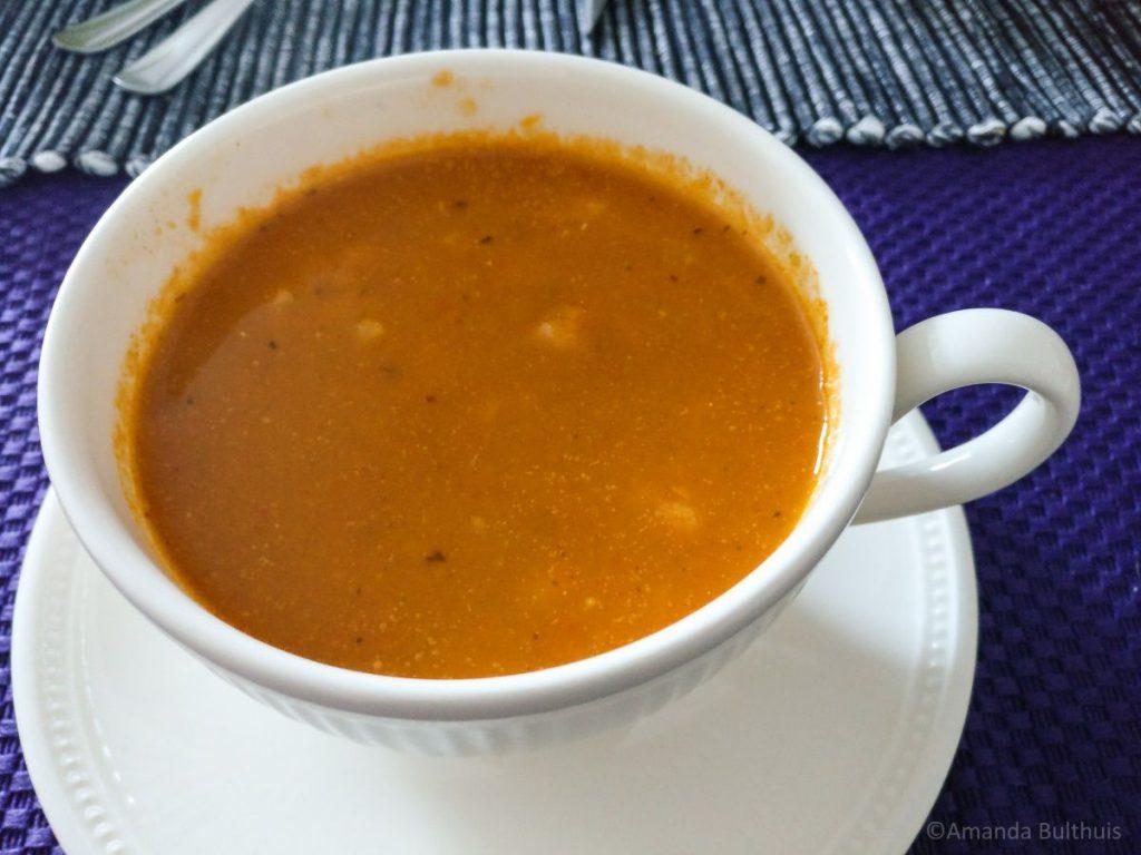 Bloemkool Piri Piri soep