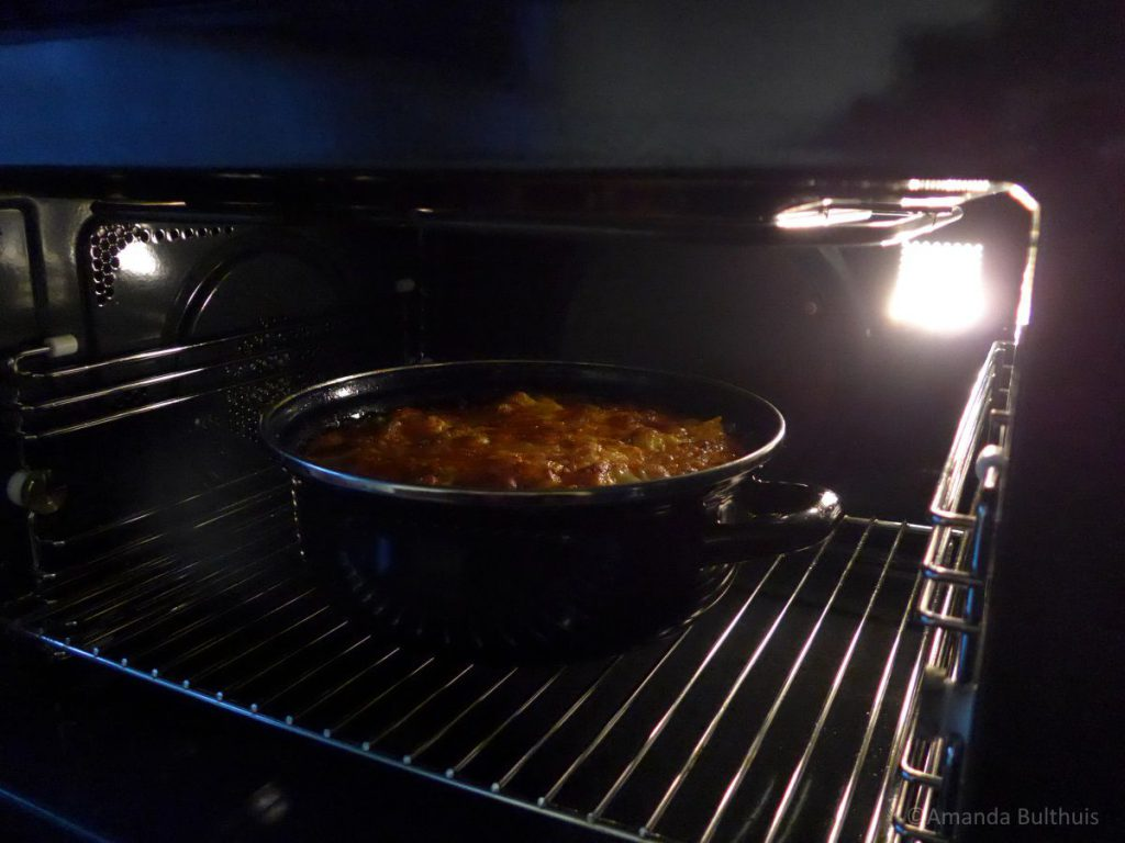 Arroz con costra in de oven