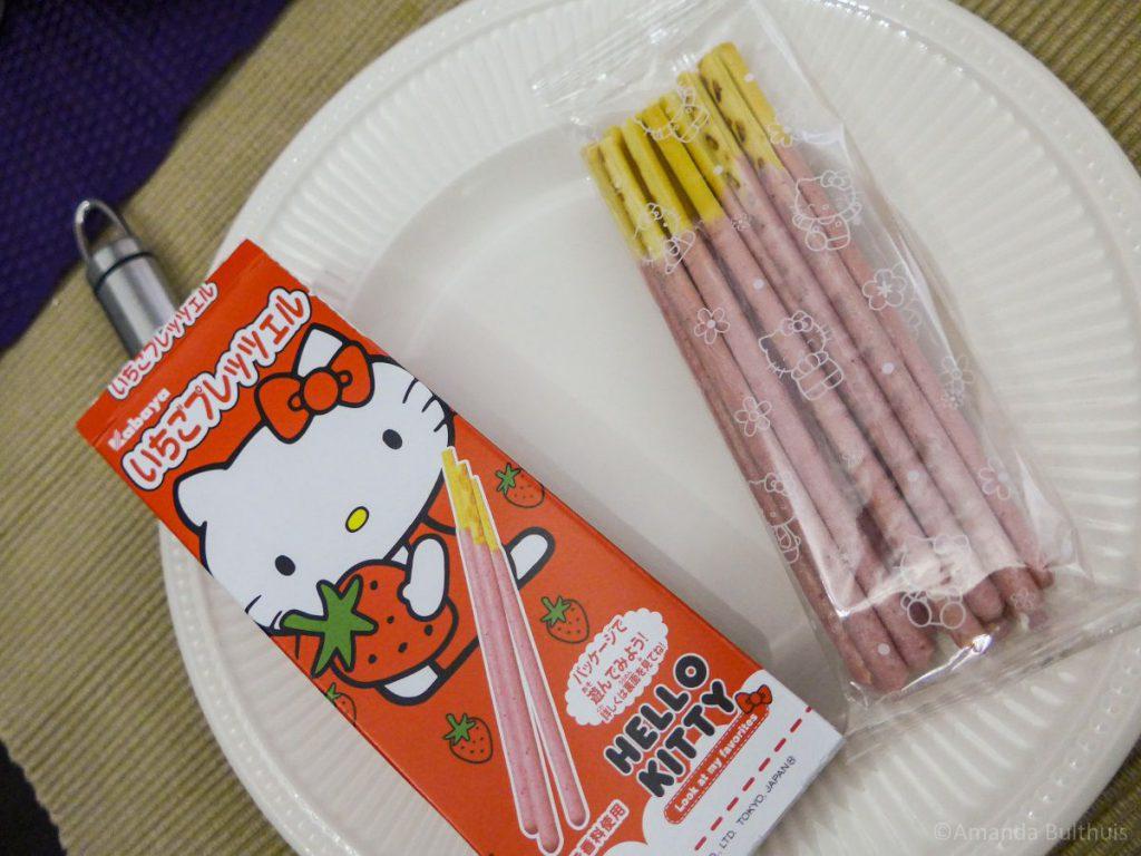 Hello Kitty Aardbei stokjes