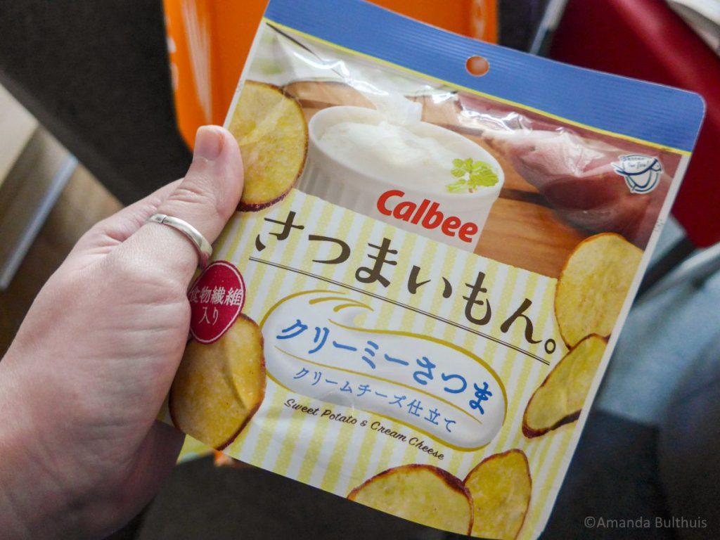 Zoete aardappel creame cheese chips