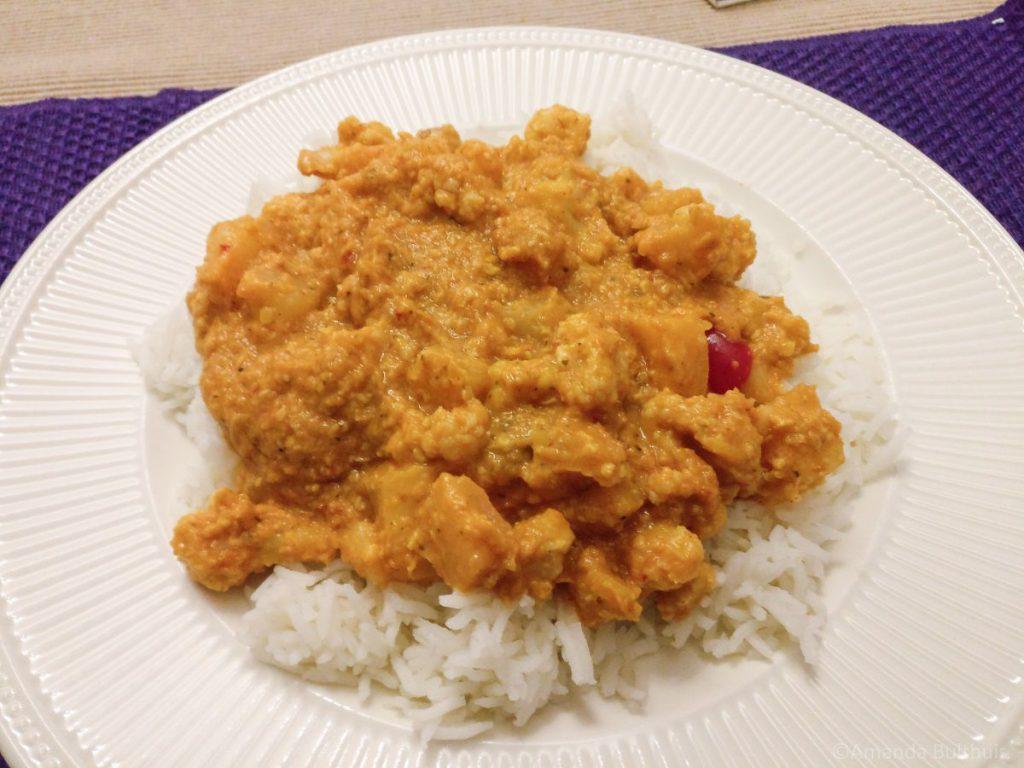 Curry met vruchtjes