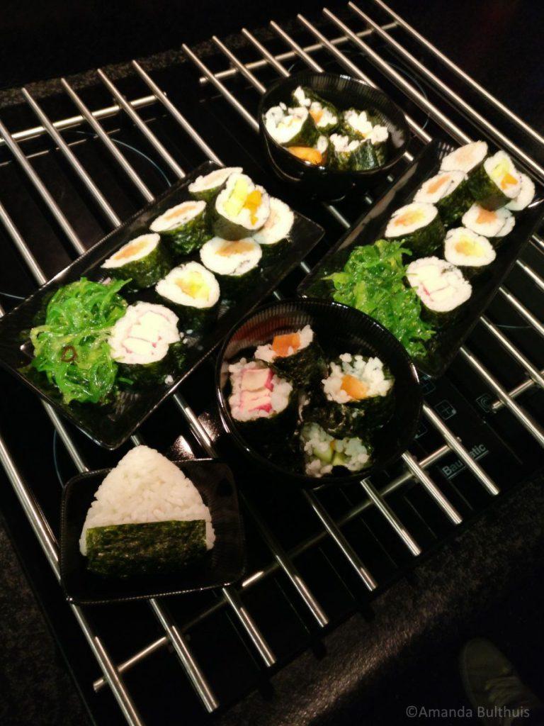 Sushi op kerstavond