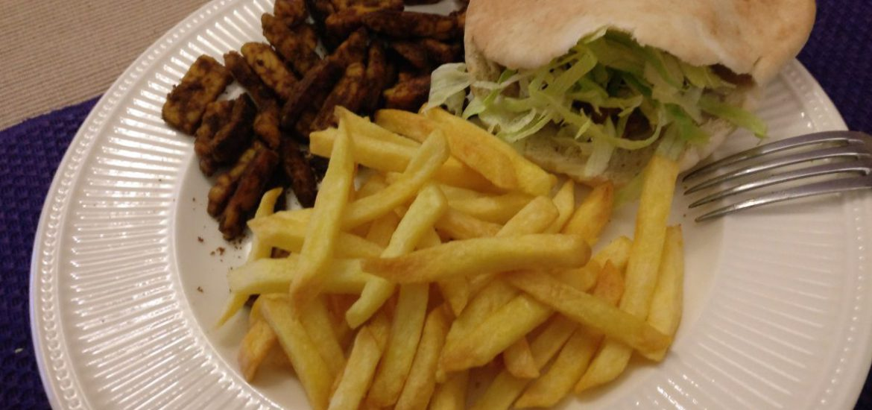 Vegetarische shoarma met friet