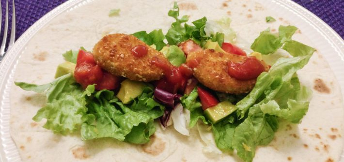 Wraps met vega nuggets