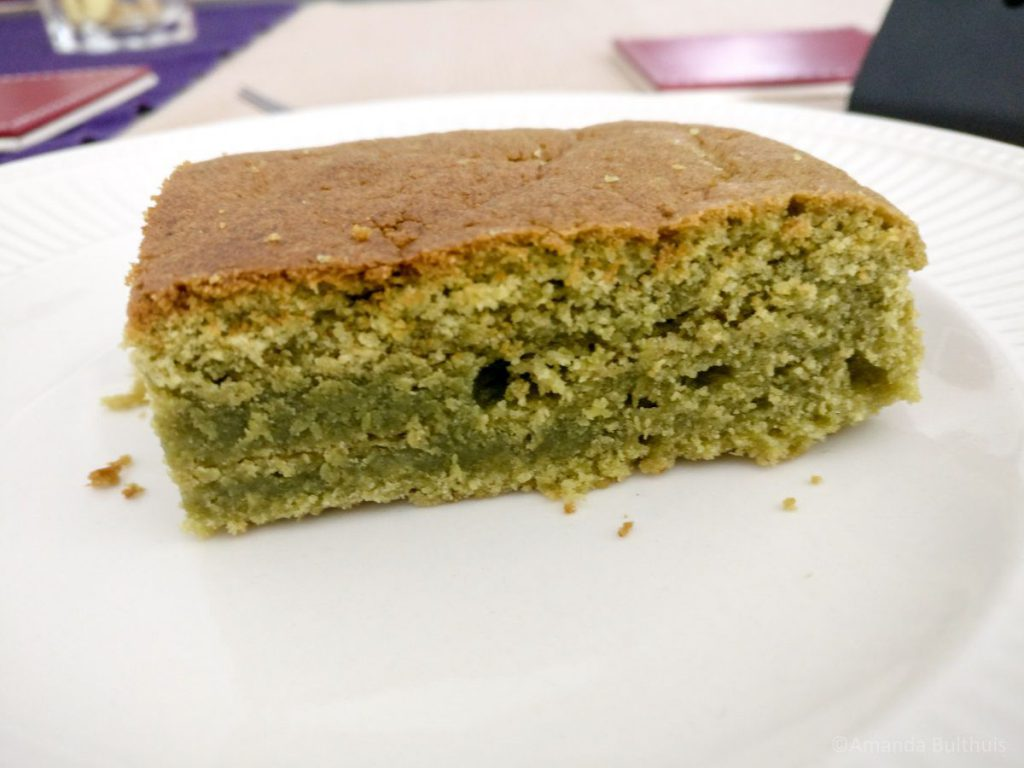 Japanse matcha cake