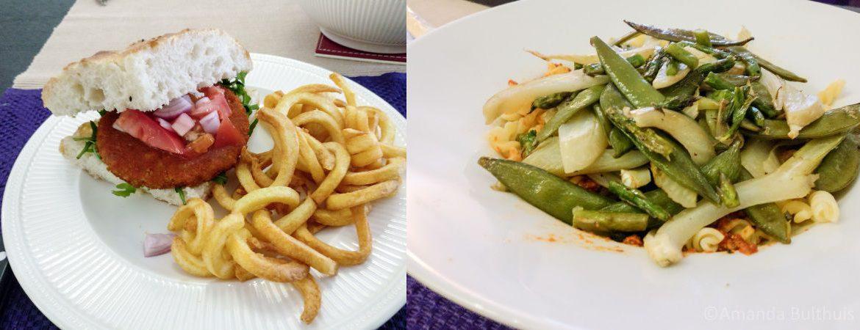 Javaanse schijf burger - Pasta met lentegroente