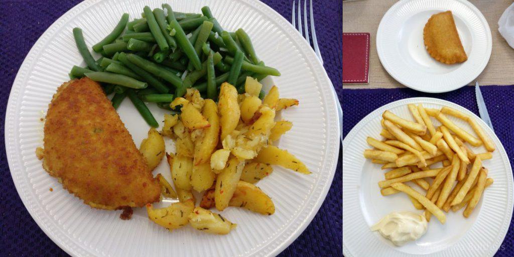 Spinazieschnitzel-frietjes
