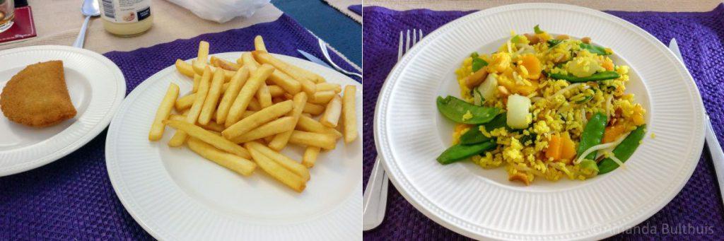 Frietjes met Thaise wokgroente