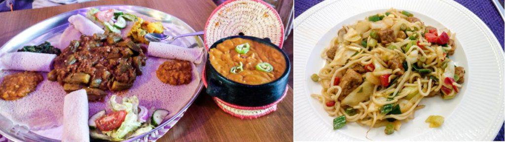 Gezana en Noedels met Chinese wokgroente