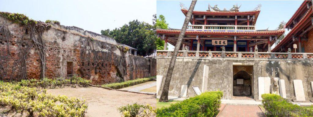 Fort Zeelandia en Fort Provincia Tainan, Taiwan