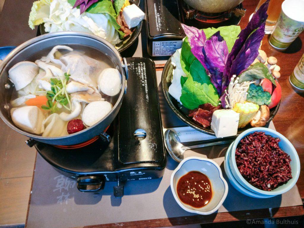 Vegetarische hotpot Tainan, Taiwan