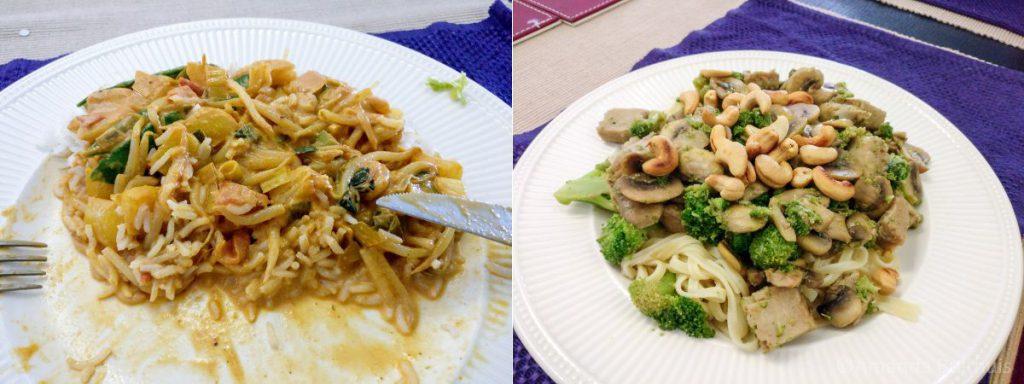 Curry met mie en broccoli