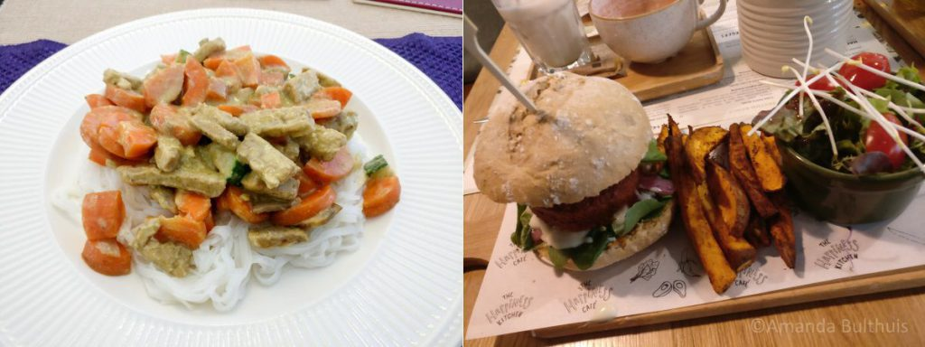 Improvisatie curry en quinoa burger