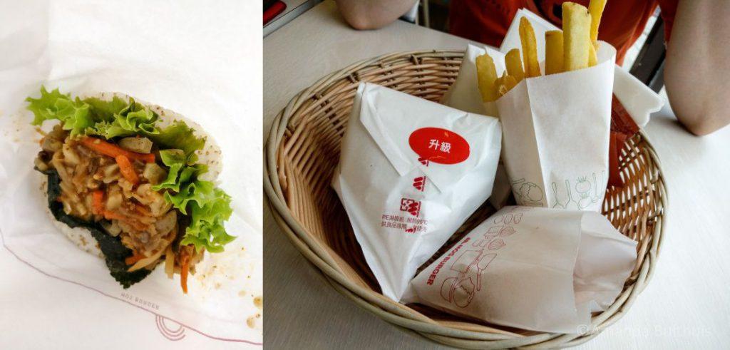 Vegetarische Mos Burger in Taitung, Taiwan
