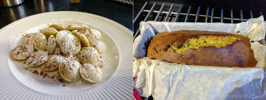 Poffertjes-matcha-cake