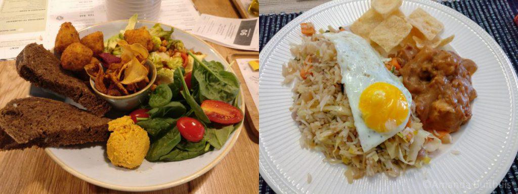 Falafel bowl met nasi