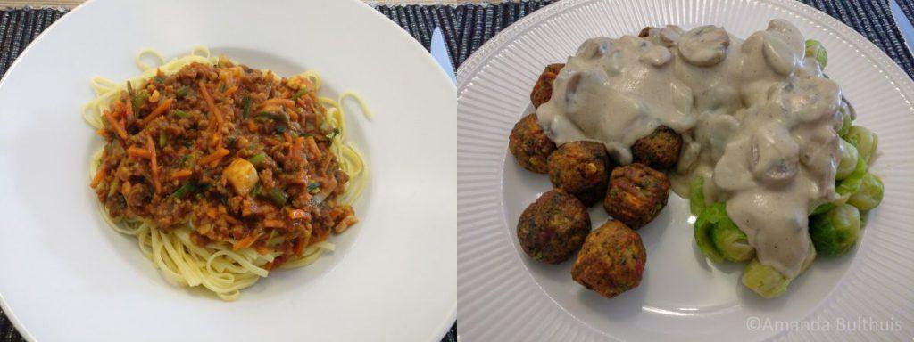 Pastasaus en vegan champignonsaus