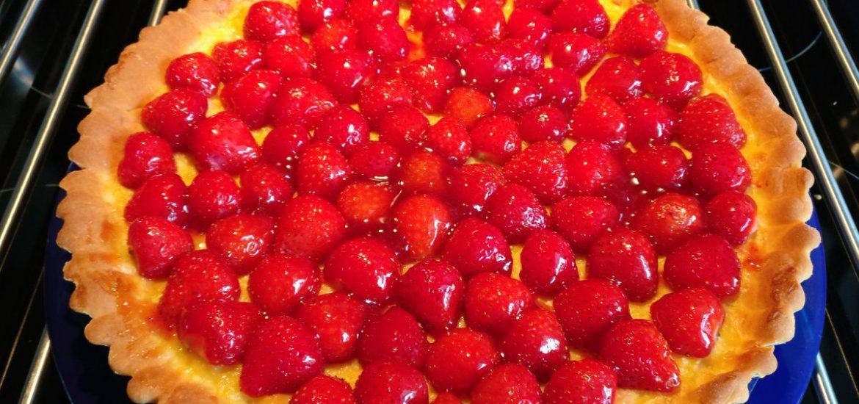 Aardbeienvlaai lactosevrij