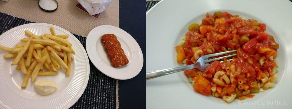 Frietjes en macaroni
